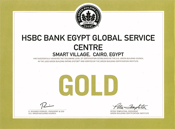 LEED Gold Certificate